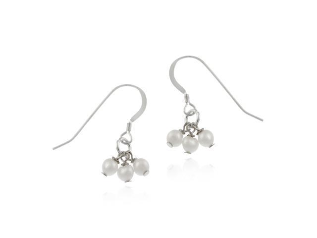Genuine Dangling Freshwater Cultured Pearl Earrings Clusters