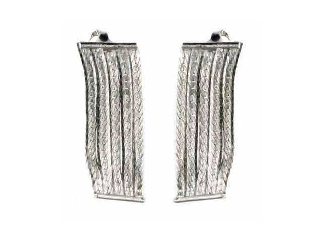 Sleek Sterling Silver Dangling Earring
