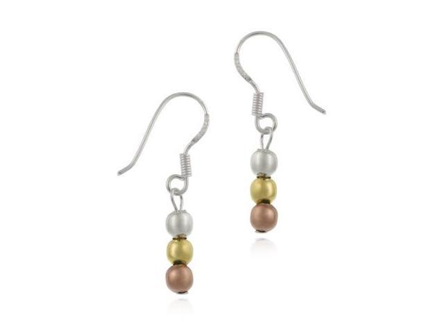 14K Gold & .925 Silver Tri Color Earrings $1NR