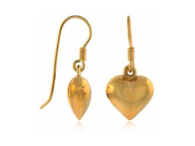 Vermeil (24kt Gold over Silver) Puffed Heart Earrings