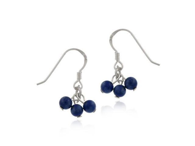 Dangling Silver Earrings w/ Blue Lapis Stones