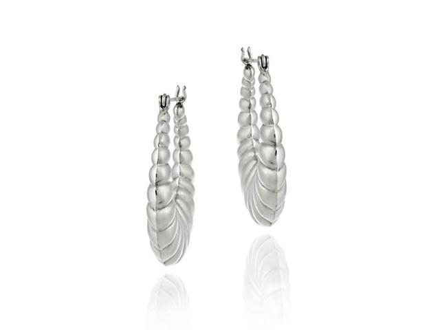 Sterling Silver Antique Style Hoop Earrings
