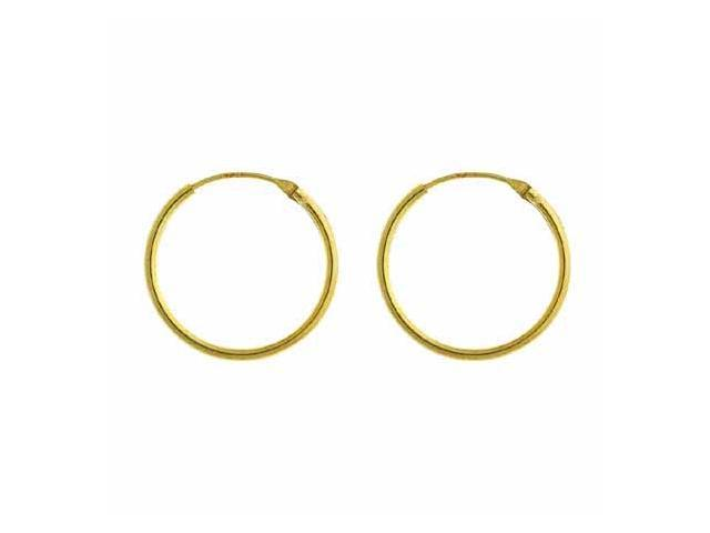 18K Gold over Sterling Silver 18mm Hoop Earrings