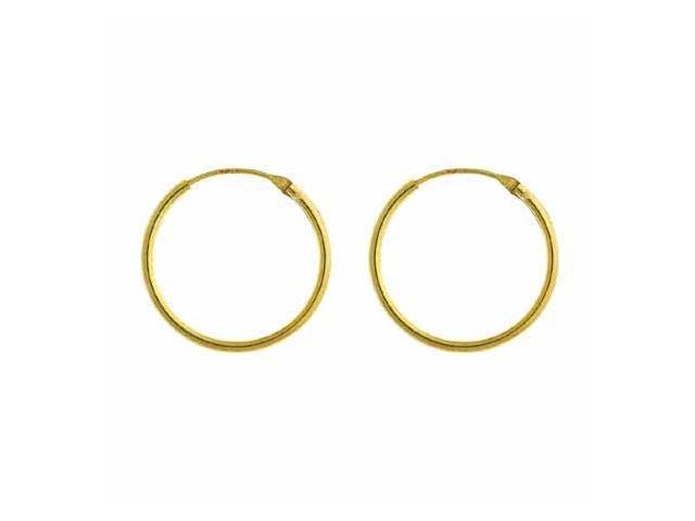 18K Gold over Sterling Silver 18mm Hoop Earrings