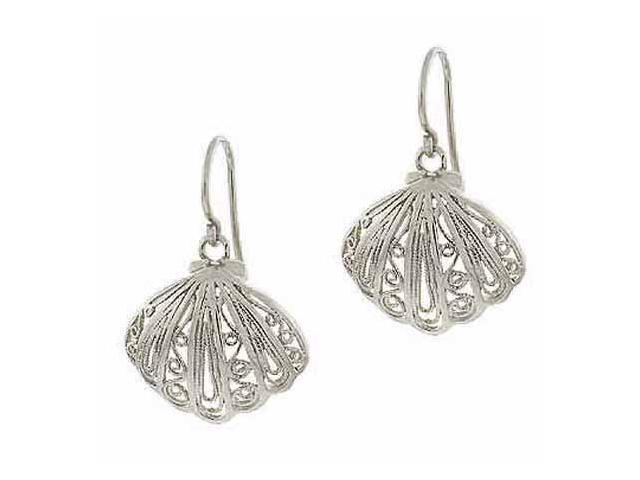 Sterling Silver Antique Style Filigree Earrings