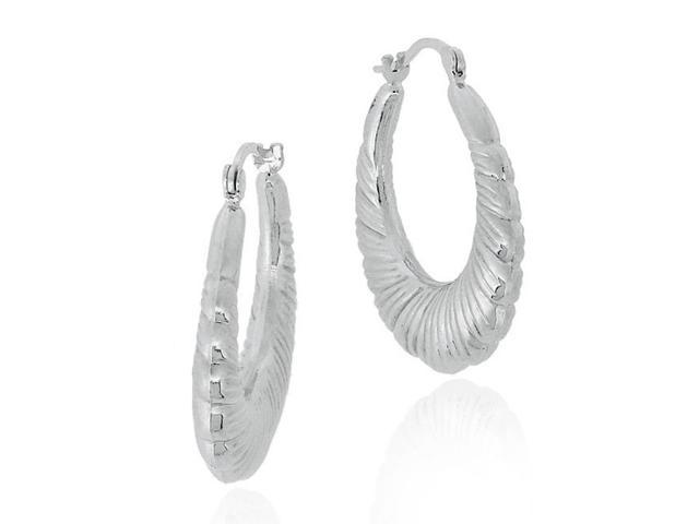 Sterling Silver Shrimp Design Hoop Earrings