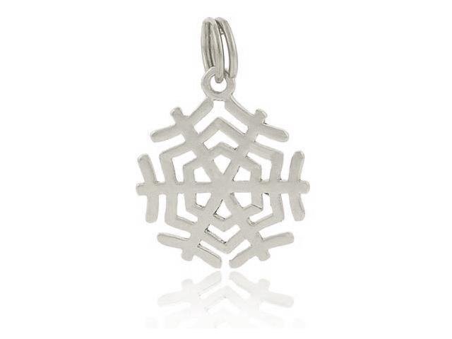 Winter Sterling Silver Filigree SnowFlake Charm/Pendant Holiday Gift