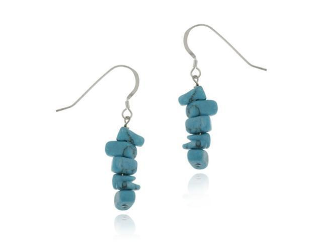 Sterling Silver Turquoise Stone Chip Earrings