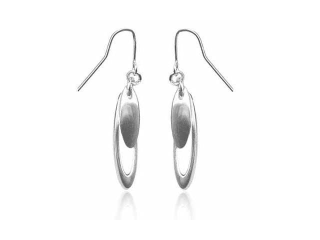 Sterling Silver Double Oval Earrings