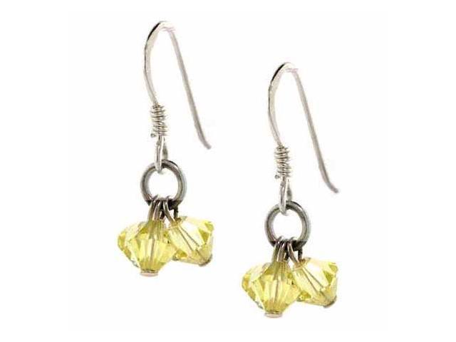 Canary Yellow Genuine Swarovski Crystal Chandelier Earrings