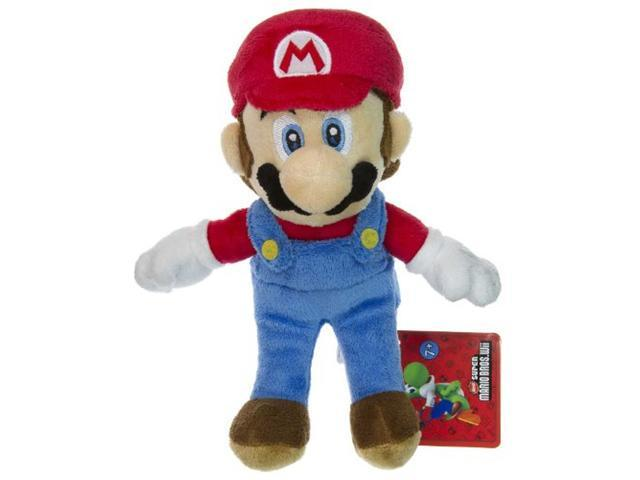"Mario ~8"" Plush - New Super Mario Bros Wii Plush Series"