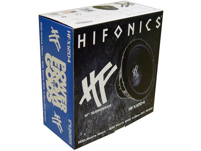 "PAIR HIFONICS HFX12D4 12"" 800W Car Audio Subwoofer Sub"