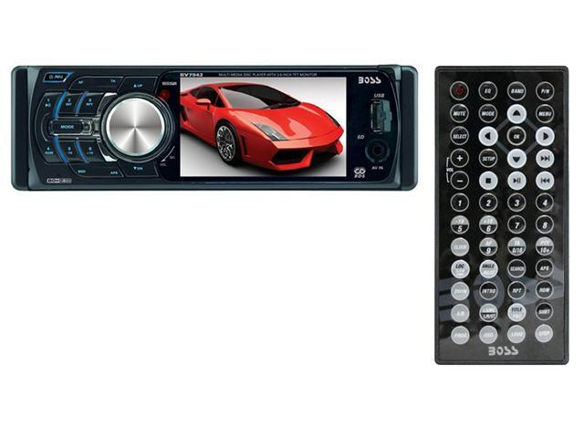 "BOSS BV7942 3.6"" TFT In Dash CD/DVD/MP3 Car Player + USB/SD AUX Reciever"