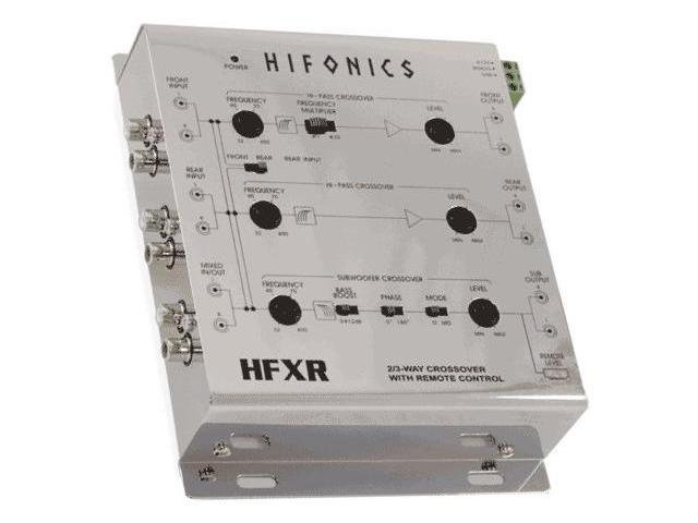 HIFONICS HFXR 2/3-Way Active Crossover  w/Bass Remote