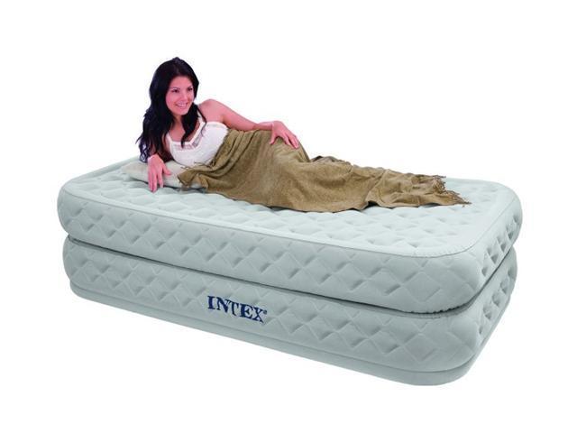 intex twin supreme air flow bed raised airbed mattress u0026 pump - Air Bed Mattress