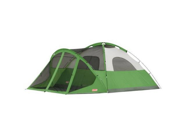 COLEMAN Camping Evanston 8 Person Family Screened Waterproof Tent 15' x 12'