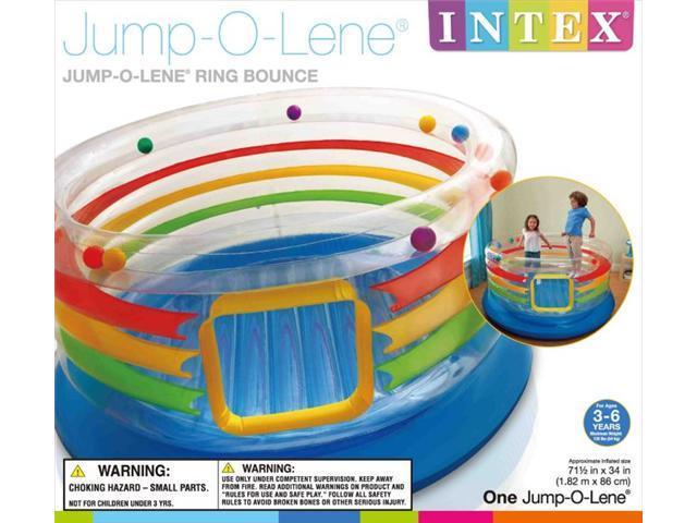 INTEX Inflatable Jump-O-Lene Transparent Ring Bounce Kids Bouncer | 48264EP