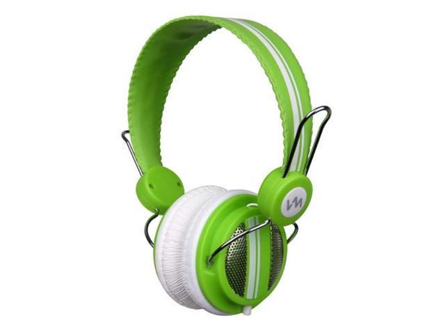 VM Audio Shaker SRHP5 Stereo Over-Ear DJ Headphones (Green)