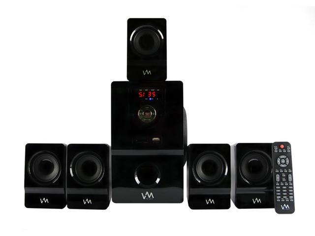 VM Audio EXMS511 600W 5.1CH Home Multimedia Surround Sound Speakers System