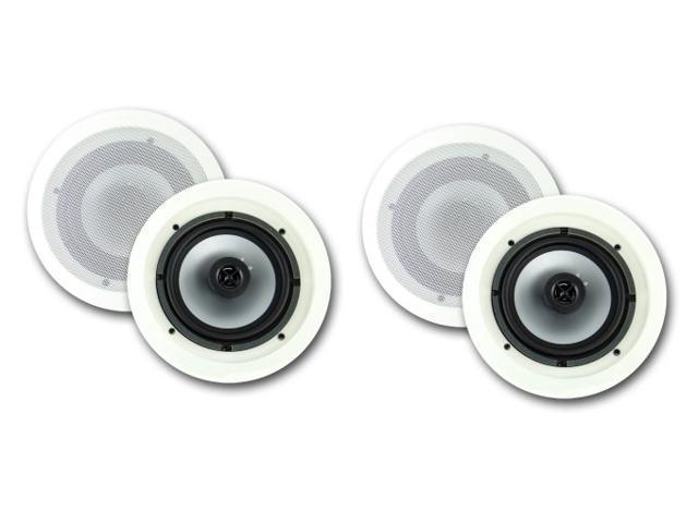 """4) VM AUDIO VMIS8 8"""" 350 Watt 2 Way In Ceiling/Wall Surround Home Speakers"""