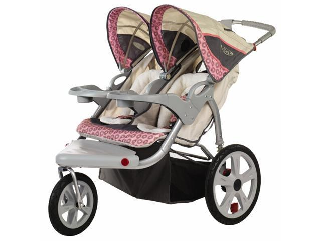 InSTEP Grand Safari Swivel Double Baby Jogging Stroller