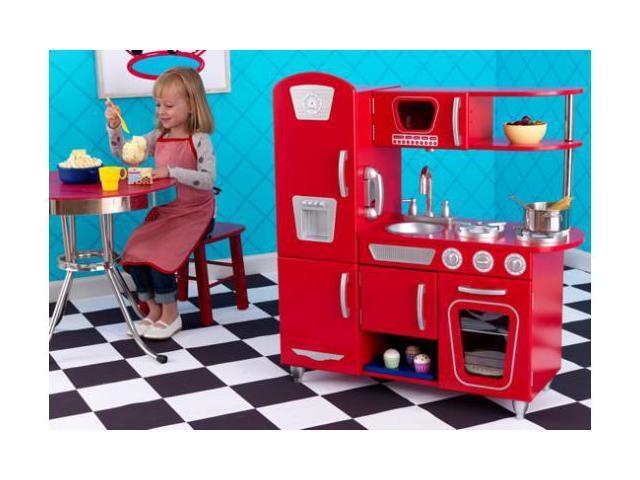 KidKraft Red Vintage Retro Kitchen