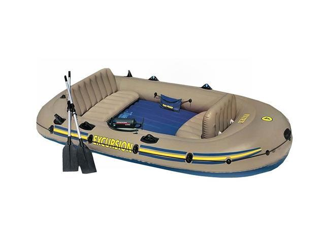 INTEX Excursion 4 Inflatable River/Lake Raft Set