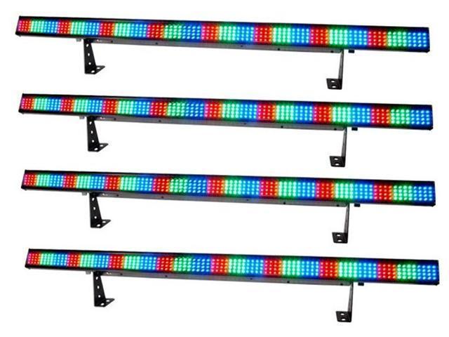 4 CHAUVET COLORSTRIP DMX LED LIGHTING COLOR STRIPS