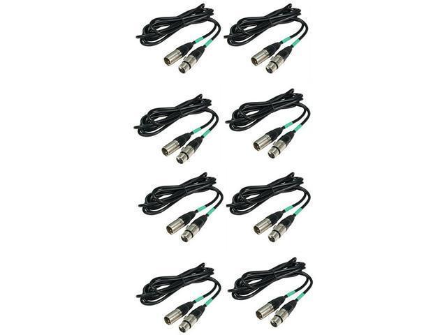 8) CHAUVET 10' Male 2 Female 3 Pin DMX Light XLR Cables