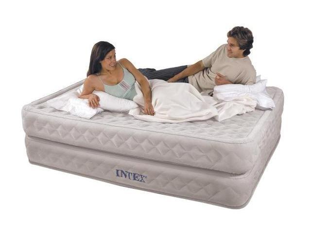 INTEX Supreme Air-Flow Queen Air Bed Mattress & Pump