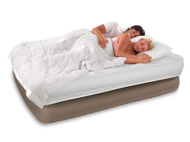 Intex Raised Queen Comfort Airbed Air Mattress w/ Pump