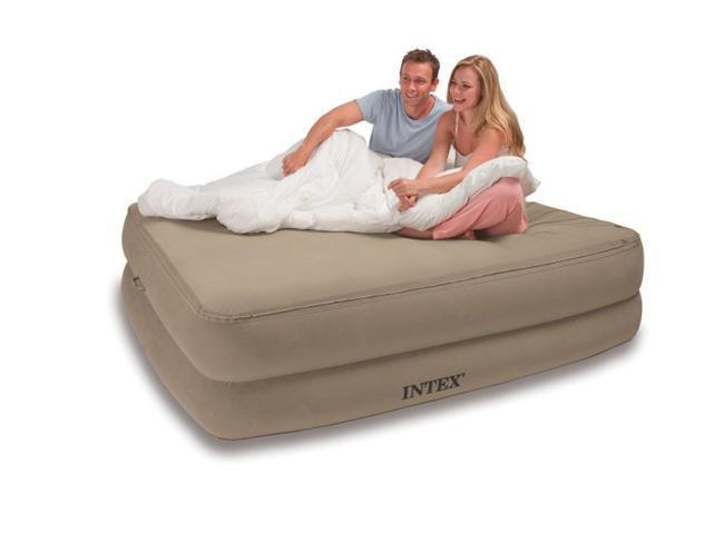 INTEX Queen Memory Foam Top Raised Airbed Air Mattress Bed