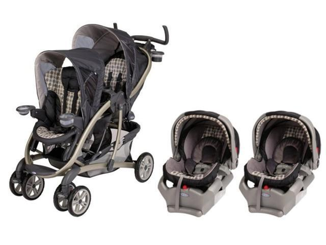 Graco Quattro Tour Duo Baby Stroller & SnugRide 35 Twin Travel System - Vance
