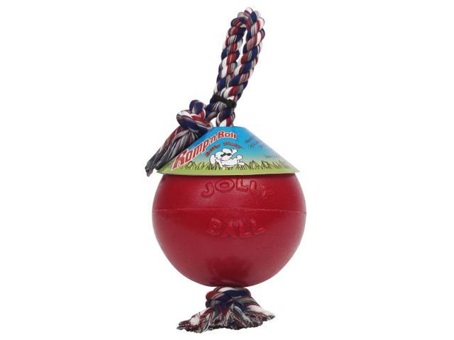 Jolly Pets Romp-N-Roll Ball, Red, 6 Inch - 606 RD