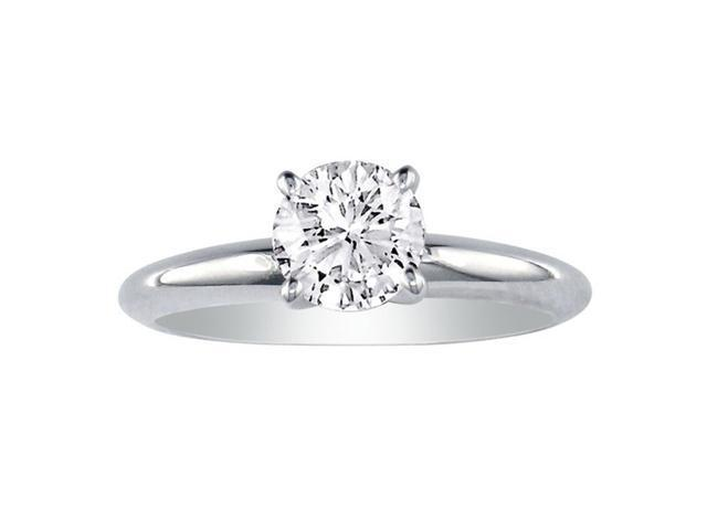 1.50ct Round Diamond Engagement Ring in J/K Color SI3 Clarity