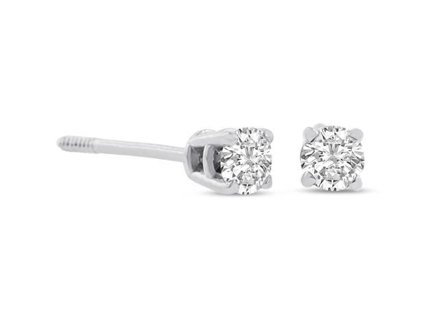 SuperJeweler 1/4ct Diamond Stud Earrings in 14k White Gold