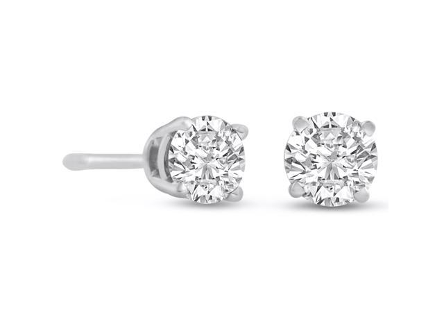 SuperJeweler 1/2ct Diamond Stud Earrings in 14k White Gold