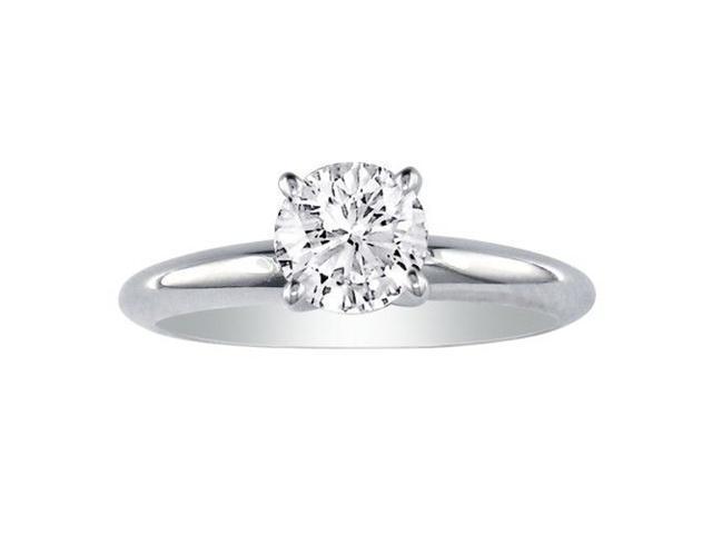 1.50ct Round Diamond Solitaire Ring in 14k White Gold, I/J, I1