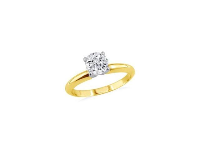 1/4ct 14k Yellow Gold Diamond Engagement Ring, 2 stars