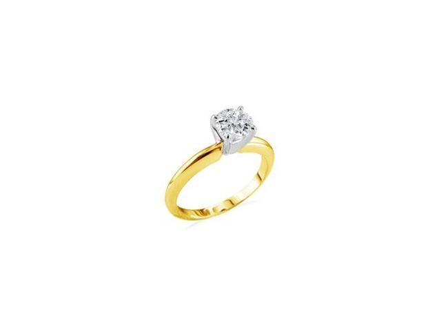 1/4ct 14k Yellow Gold Diamond Engagement Ring, 2 stars