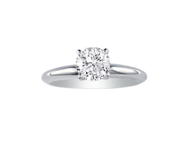 1ct Platinum Diamond Engagement Ring, I/J, SI2/SI3