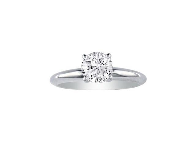 2/3ct Diamond Engagement Ring in 14k White Gold, H/I, SI2
