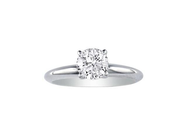 3/4ct Closeout Diamond Solitaire Ring, 14k White Gold.