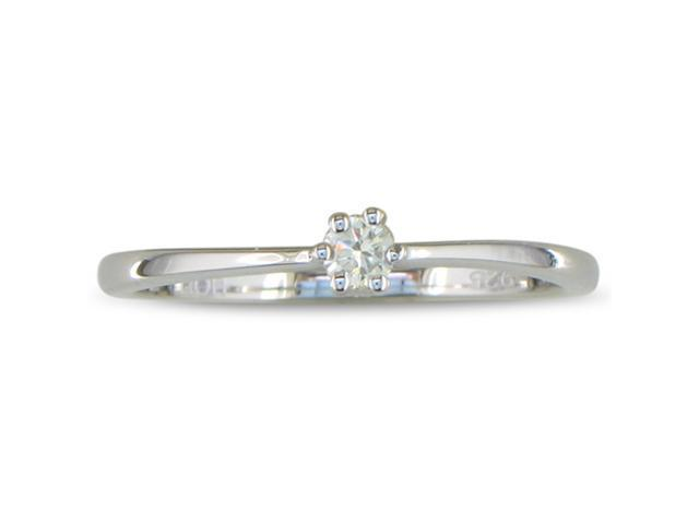 1/10ct Diamond Solitaire Ring in Sterling Silver