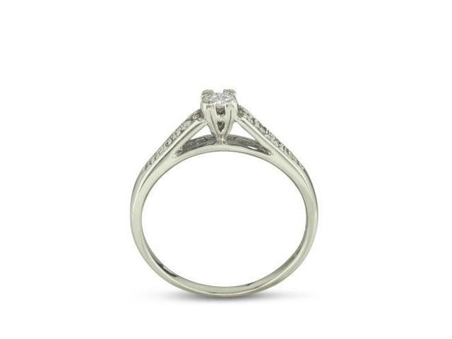 1/4ct Diamond Bridal Set in Sterling Silver