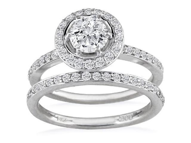 PRICE JUST REDUCED! Popular 1ct Diamond Bridal Set, 14k White Gold