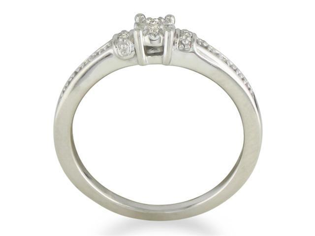Diamond Promise Ring in Sterling Silver in Ring Sizes 4 to 9.8