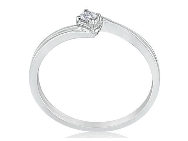 Affordable Diamond Promise Ring in Sterling Silver