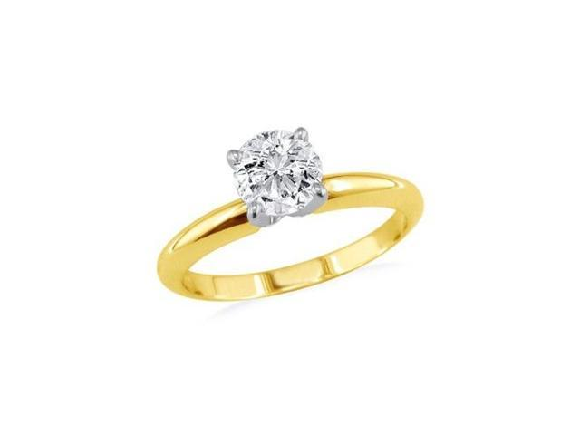 1/2ct Round Diamond Engagement Ring in 14k Yellow Gold, Closeout