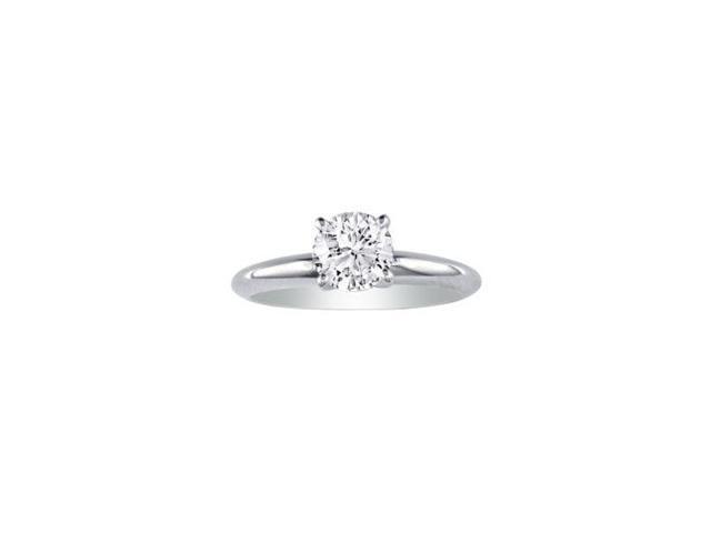1/3ct Diamond Engagement Ring in 14k White Gold, J/K, I1/I2